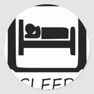 EAT SLEEP33 CLASSIC ROUND STICKER