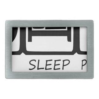 EAT SLEEP39 RECTANGULAR BELT BUCKLE