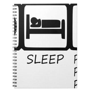 EAT SLEEP41 SPIRAL NOTEBOOK