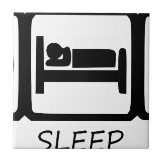 EAT SLEEP43 CERAMIC TILE