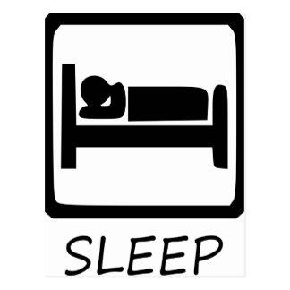 EAT SLEEP43 POSTCARD