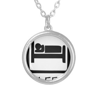 EAT SLEEP45 SILVER PLATED NECKLACE
