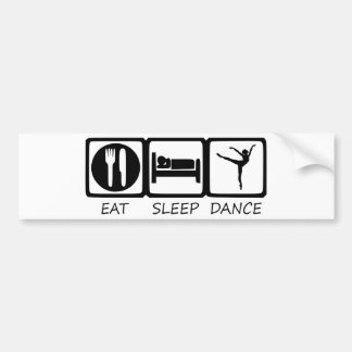 EAT SLEEP9 BUMPER STICKER
