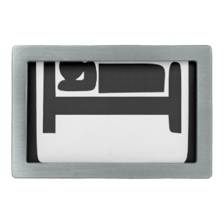 EAT SLEEP9 RECTANGULAR BELT BUCKLE