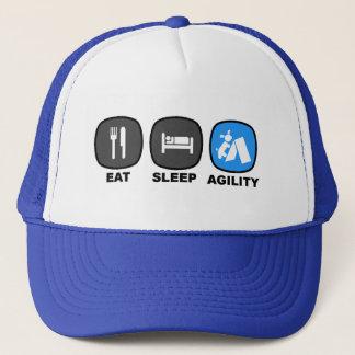 Eat. Sleep. Agility. Blue. Trucker Hat