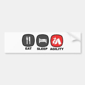 Eat. Sleep. Agility. Red. Bumper Sticker