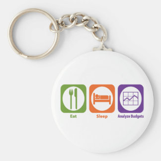 Eat Sleep Analyze Budgets Keychain