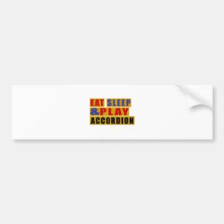 Eat Sleep And Play ACCORDION Bumper Sticker