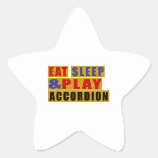 Eat Sleep And Play ACCORDION Star Sticker