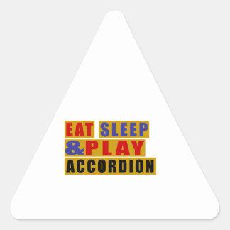 Eat Sleep And Play ACCORDION Triangle Sticker