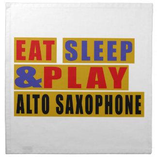 Eat Sleep And Play ALTO SAXOPHONE Napkin