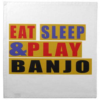 Eat Sleep And Play BANJO Napkin