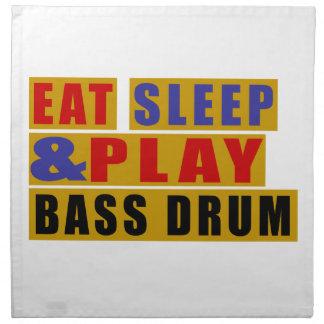 Eat Sleep And Play BASS DRUM Napkin