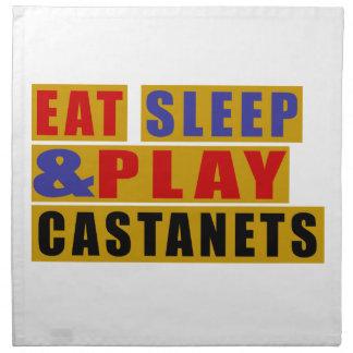 Eat Sleep And Play CASTANETS Napkin