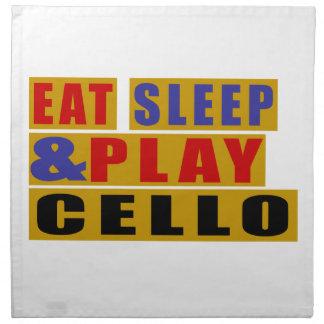 Eat Sleep And Play CELLO Napkin