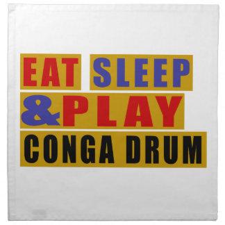 Eat Sleep And Play CONGA DRUM Napkin