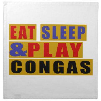 Eat Sleep And Play CONGAS Napkin