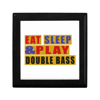 Eat Sleep And Play DOUBLE BASS Small Square Gift Box
