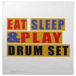 Eat Sleep And Play DRUM SET Napkin