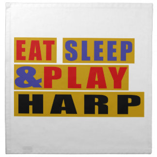 Eat Sleep And Play HARP Napkin
