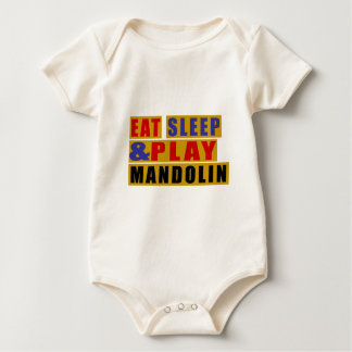 Eat Sleep And Play MANDOLIN Baby Bodysuit