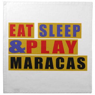 Eat Sleep And Play MARACAS Napkin