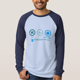 Eat, Sleep and Save the Environment Jersey Shirt