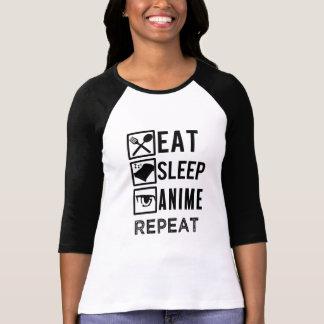 Eat Sleep Anime Repeat funny saying womens shirt