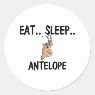 Eat Sleep ANTELOPE Classic Round Sticker