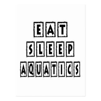 Eat Sleep  AQUATICS Postcard