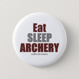 Eat Sleep Archery 6 Cm Round Badge