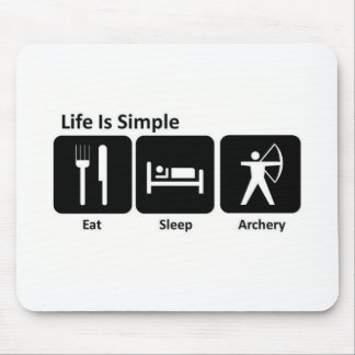 Eat Sleep Archery Mouse Pad