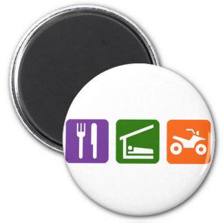 Eat Sleep ATV 6 Cm Round Magnet