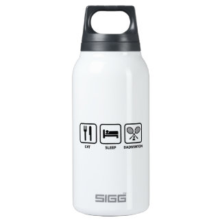 Eat Sleep Badminton 0.3L Insulated SIGG Thermos Water Bottle