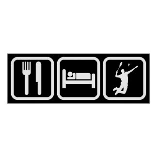 Eat Sleep Badminton Poster