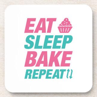 Eat Sleep Bake Repeat Beverage Coasters