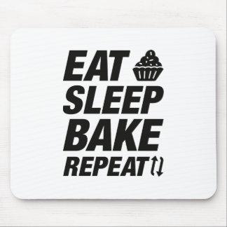 Eat Sleep Bake Repeat Mouse Pad