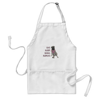 Eat, sleep, bark, repeat pug standard apron