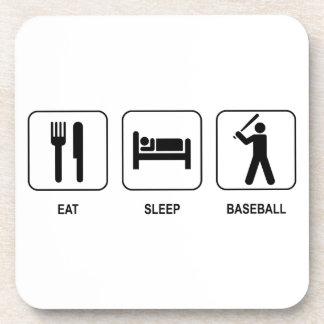 Eat Sleep Baseball Cork Coaster