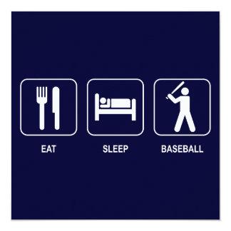 Eat Sleep Baseball Invitation