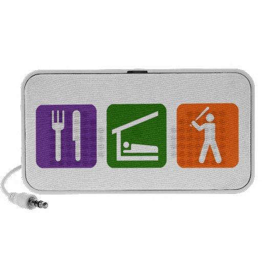 Eat Sleep Baseball iPod Speakers