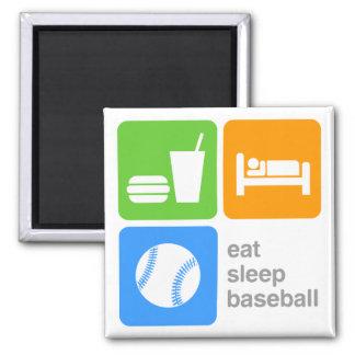Eat Sleep Baseball Square Magnet