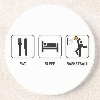 Eat Sleep Basketball Coaster