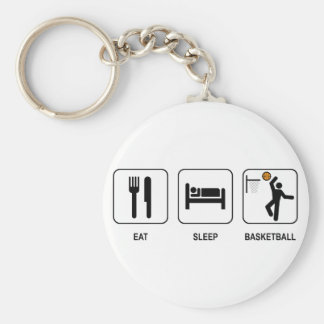 Eat Sleep Basketball Keychain