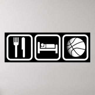 Eat Sleep Basketball Poster
