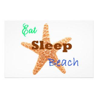 Eat Sleep Beach - 8.5x5.5 Poster Stationery Design