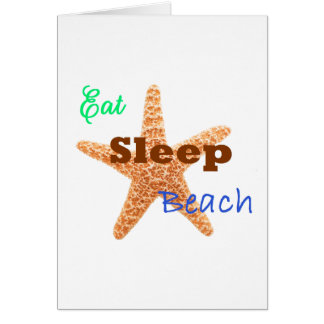 Eat Sleep Beach - Greeting Card