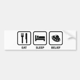 Eat Sleep Belief Bumper Sticker