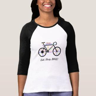Eat, Sleep, BIKE! Fun Motivational Words for Biker T Shirts
