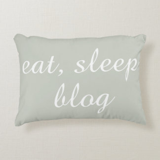 Eat, Sleep, Blog Accent Pillow